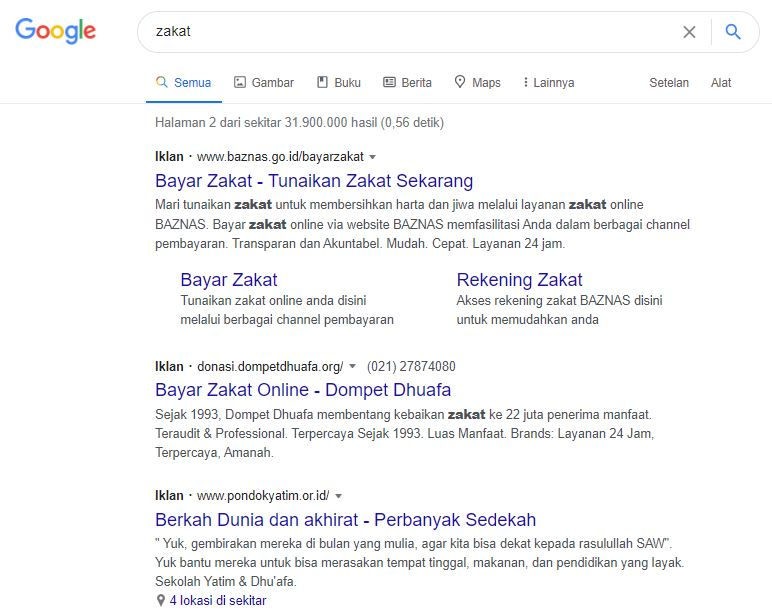 persaingan zakat google ads